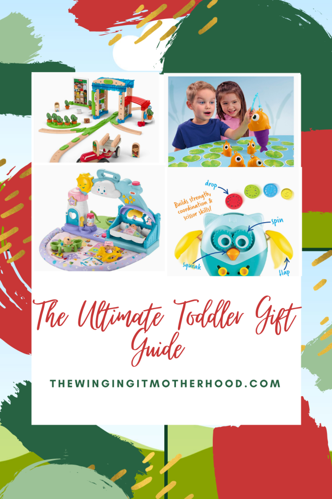The ultimate toddler gift guide with gift ideas that your toddler will love this holiday season.